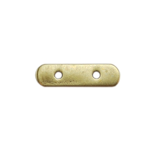 Bronze Plate Bar Spacer - Double Strand 3mm x 11mm Pkg - 2