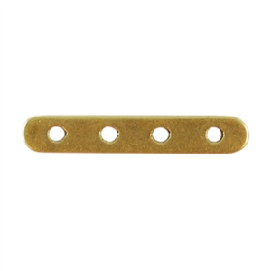 Bronze Plate Bar Spacer - Quadruple Strand