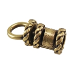 Bronze Plate End Caps - Swivel Fancy 3mm Pkg - 2