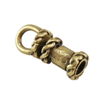 Bronze Plate End Caps - Swivel Fancy 2mm Pkg - 2