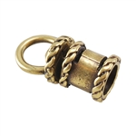 Bronze Plate End Caps - Swivel Fancy 4mm Pkg - 2
