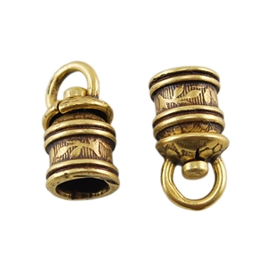 Bronze Plate End Caps - Swivel Floral 5mm