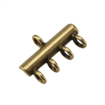 Bronze Plate Connector - 4-Strand 10mm x 15.5mm Pkg - 2