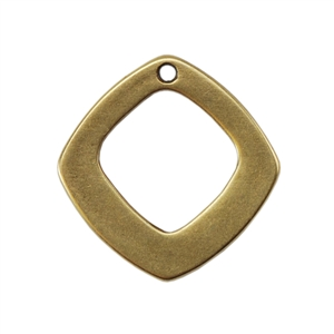 Bronze Plate Charm - Diamond