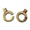 Bronze Plate Hook & Eye Clasp - Slip Lock Small Mini