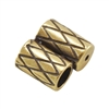 Bronze Plate Slide Ends - Double Strand 3mm