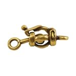Bronze Plate Ball & Joint Clasp - Small Barrel