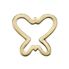 Bronze Plate Jump Ring - Butterfly 12mm x 12mm Pkg - 2