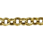 Brass Chain - Solid & Textured Double Cable 5mm - 1 Foot