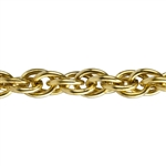Brass Chain - Double Rope 5.4mm - 1 Foot