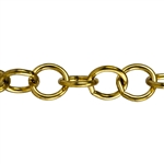 Brass Chain - Round Cable 10.1mm - 1 Foot