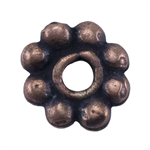 Copper Plate Beaded Heishi - 4mm Pkg - 25