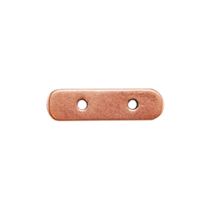 Copper Plate Bar Spacer - Double Strand Pkg - 2