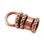 Copper Plate End Cap - Swivel Fancy 2mm Pkg - 2