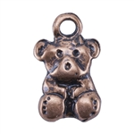 Copper Plate Charm - Teddy Bear
