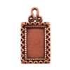 Copper Plate Pendant - Fancy Frame