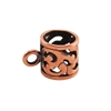Copper Plate Tube Bail with Ring - Filigree 9x13mm