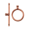 Copper Plate Toggle Clasp - Round Thin Large