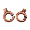 Copper Plate Hook & Eye Clasp -  Slip Lock Small Mini