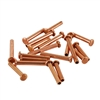 "Copper Plate Miniature Rivet - 1/16"" Assorted Long Shaft Lengths"