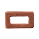 Copper Plate Jump Ring - Rectangle Small