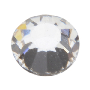 Crystal White: Round Flat Back 8.7mm