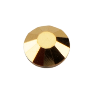 Crystal Aurum: Round Flat Back 6.6mm Pkg - 12