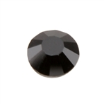 Crystal Jet Black: Round Flat Back 6.6mm