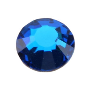 Crystal Blue Capri: Round Flat Back 7.4mm