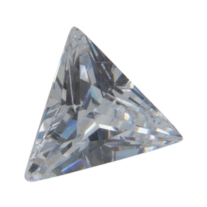 CZ: Triangle 5x5mm White Pkg - 4
