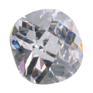 CZ: White Diamond - Cushion Checkerboard 10mm Pkg - 1