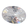 CZ: White Diamond - Cabochon Round 10mm