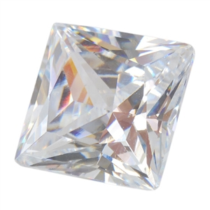 Cubic Zirconia - White Diamond - Square