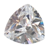 CZ: White Diamond - Trillion 3mm Pkg - 10