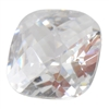 CZ: White Diamond - Cushion - Checkerboard 6mm