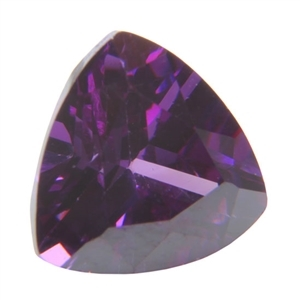 CZ: Trillion 4x4mm Amethyst Pkg - 4