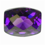 CZ: Amethyst - Barrel - Checkerboard 8mm x 10mm