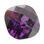 CZ: Amethyst - Cushion - Checkerboard 10mm