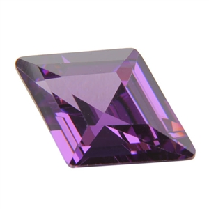 CZ: Amethyst - Diamond 9mm x 13mm Pkg - 1
