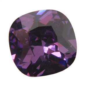 Cubic Zirconia - Amethyst - Cushion