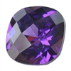 CZ: Amethyst - Cushion - Checkerboard 4mm Pkg - 4