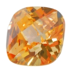 CZ: Champagne - Cushion - Checkerboard 6mm