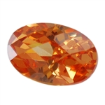CZ: Champagne - Oval - Checkerboard 13mm x 18mm