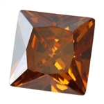 CZ: Square 4x4mm Smoked Topaz Pkg - 4