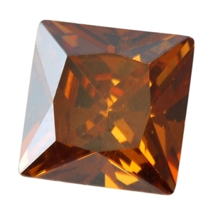 CZ: Square 6x6mm Smoked Topaz