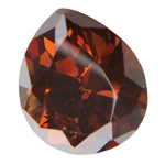 CZ: Pear 10x14mm Smoked Topaz Pkg - 1