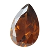 CZ: Smoked Topaz - Pear 12mm x 14mm