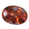 CZ: Smoked Topaz - Oval - Checkerboard 10mm x 14mm Pkg - 1