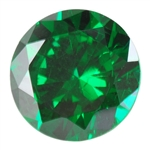 CZ: Columbian Emerald - Round 2mm