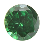 CZ: Round 3mm Columbian Emerald